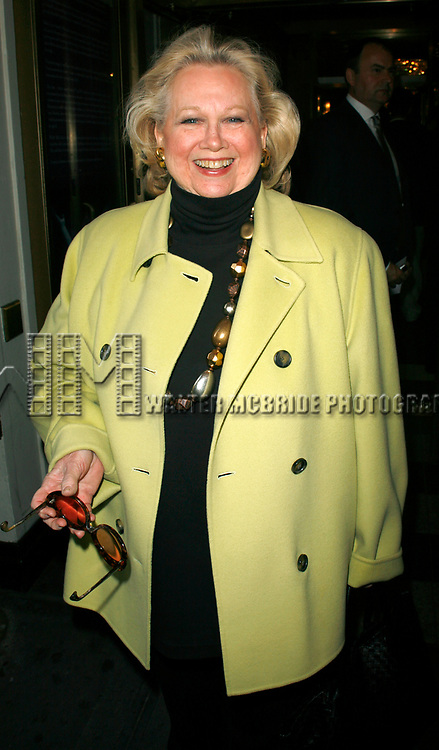 Barbara Cook arriving for the Opening Night Performance  of  CORAM BOY at the Imperial Theatre in New York City.<br />May 2, 2007