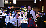 St Johnstone FC Scottish Cup Celebration Dinner at Perth Concert Hall...01.02.15<br /> Ian Wotherspoon (right) and Steven Watt playing head and tails<br /> Picture by Graeme Hart.<br /> Copyright Perthshire Picture Agency<br /> Tel: 01738 623350  Mobile: 07990 594431