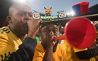 South Africa fans blow their vuvuzuela's during the 2010 World Cup first round match of Ghana vs. Serbia at Loftus Versfeld Stadium in Pretoria, South Africa on Saturday, June 12, 2010.