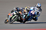 Niklas Ajo (31) amd Jorge Lorenzo (99)in action during the Red Bull MotoGP of the Americas practice session at Circuit of the Americas racetrack in Austin,Texas. ..