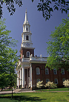 AJ3507, New Haven, church, Connecticut, Yale, First Church of Christ in the spring in New Haven in the state of Connecticut.