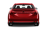 Straight rear view of 2020 Toyota Avalon TRD 4 Door Sedan Rear View  stock images