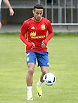 Spain's Thiago Alcantara during preparing training stage to Euro 2016. May 30,2016.(ALTERPHOTOS/Acero)