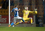 St Johnstone v Ross County… McDiarmid Park..     SPFL<br />Steven MacLean scores his goal<br />Picture by Graeme Hart.<br />Copyright Perthshire Picture Agency<br />Tel: 01738 623350  Mobile: 07990 594431