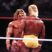 Ultimate Warrior Hulk Hogan 1990                                     Photo By John Barrett/PHOTOlink