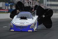May 13, 2011; Commerce, GA, USA: NHRA funny car driver Melanie Troxel during qualifying for the Southern Nationals at Atlanta Dragway. Mandatory Credit: Mark J. Rebilas-