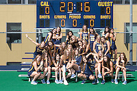 Berkeley, Ca - August, 13, 2016: Cal Field Hockey Team Photo 2016.