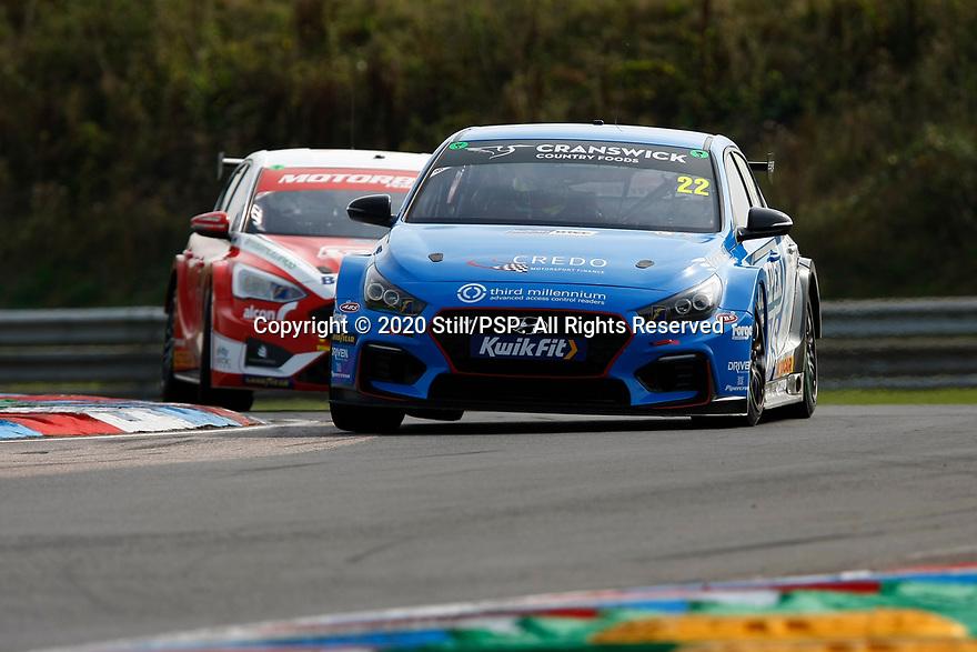 Round 5 of the 2020 British Touring Car Championship. #22 Chris Smiley. Excelr8 Motorsport. Hyundai i30N