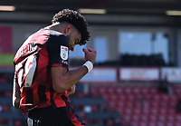2nd April 2021; Vitality Stadium, Bournemouth, Dorset, England; English Football League Championship Football, Bournemouth Athletic versus Middlesbrough; Philip Billing of Bournemouth celebrates scoring in 14th minute 1-0