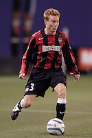 The MetroStars' Chris Leitch. The Chicago Fire defeated the MetroStars 1 - 0 at Giant's Stadium, East Rutherford, NJ, on Friday April 22, 2005.