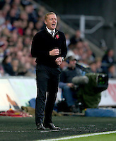 Swansea City manager Garry Monk shouts during the Barclays Premier League match between Swansea City and Arsenal played at The Liberty Stadium, Swansea on October 31st 2015