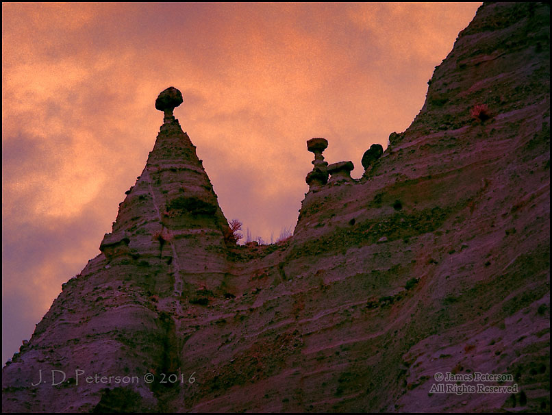 Balanced Rocks, Kasha-Katuwe Tent Rocks National Monument, New Mexico (Infrared) ©2016 James D Peterson.  New Mexico has an amazing variety of elegant and/or otherworldly landscapes.  This one might be the most amazing one of them all, especially when seen in the ersatz colors of an infrared image.