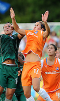 Keeley Dowling #17, Melissa Tancredi..Sky Blue FC defeated Saint Louis Athletica 1-0 at Anheuser Busch Soccer Park, Fenton, Mo.
