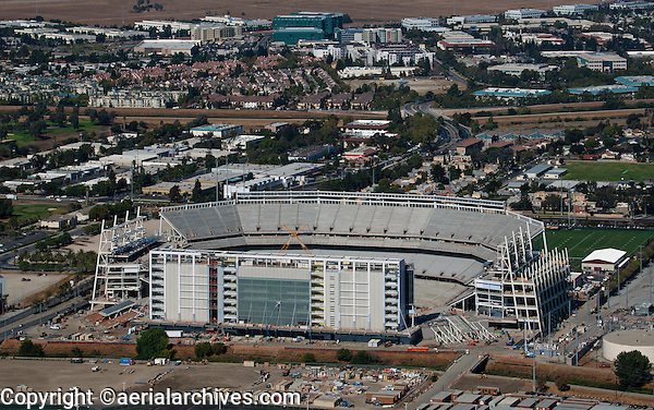 aerial photograph of the construction of Levi's Stadium Santa Clara, California
