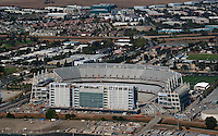 aerial photograph of the construction of Levi's Stadium Santa Clara, California