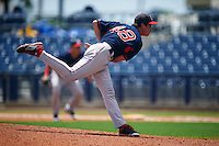 GCL Red Sox pitcher Josh Pennington (48) delivers a pitch during the second game of a doubleheader against the GCL Rays on August 4, 2015 at Charlotte Sports Park in Port Charlotte, Florida.  GCL Red Sox defeated the GCL Rays 2-1.  (Mike Janes/Four Seam Images)