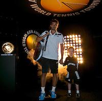 Rotterdam, The Netherlands. 15.02.2014. ABN AMRO World Tennis Tournament Ernests Gulbis(LET) <br /> Photo:Tennisimages/Henk Koster