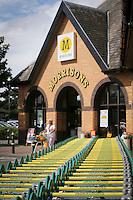 Morrisons Supermarket - store entrance