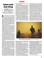 German weekly magazine DER SPIEGEL on German troops in Afghanistan, 03.2019.<br /> Picture: Timo Vogt