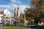 Italy, South Tyrol, Alto Adige, Valle Isarco, Bressanone: Hofburg square   Italien, Suedtirol, Eisacktal, Brixen: Hofburgplatz