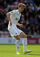 Tom Carroll of Swansea City in action during the Premier League match between Sunderland and Swansea City at the Stadium of Light, Sunderland, England, UK. Saturday 13 May 2017