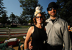 28 August 10: Marie Regglia and Brian Cardillo fro Mahopac, New York at the Travers Stakes at Saratoga Race Course in  Saratoga Springs, New York.