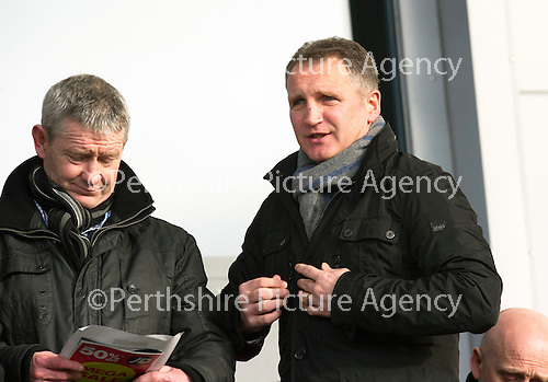 St Mirren v St Johnstone.....02.02.13      Scottish Cup.Former St Johnstone asst manager Sandy Stewart watches the game.Picture by Graeme Hart..Copyright Perthshire Picture Agency.Tel: 01738 623350  Mobile: 07990 594431