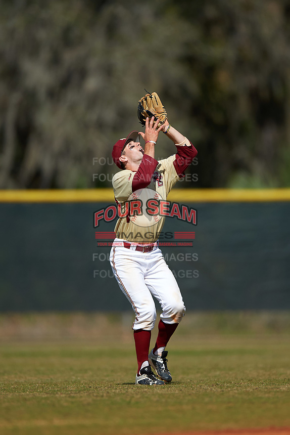 Boston College Eagles shortstop Johnny Adams (8) during a game against the Central Michigan Chippewas on March 8, 2016 at North Charlotte Regional Park in Port Charlotte, Florida.  Boston College defeated Central Michigan 9-3.  (Mike Janes/Four Seam Images)