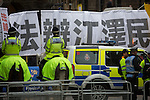 © Joel Goodman - 07973 332324 . 23/10/2015 . Manchester , UK . Taiwan independence protests opposite Manchester Town Hall as Chinese president , Xi Jinping visits Manchester as part of his state visit to the United Kingdom . Photo credit : Joel Goodman