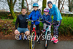 Enjoying a stroll and cycle in Killarney National park on Sunday, l to r: John, Jack, Maria and Linda Mannix.