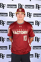Zachary Martinez (10) of Joy Christian High School in Peoria, Arizona during the Baseball Factory All-America Pre-Season Tournament, powered by Under Armour, on January 12, 2018 at Sloan Park Complex in Mesa, Arizona.  (Mike Janes/Four Seam Images)