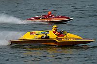 "Harry Holst, E-160 ""Heatwave II? (1960's Whiteman 280 class cabover hydroplane), Steve Wace, E-22 ""Chuck Wagon"", (1968 Ron Jones 280 class cabover hydroplane)"