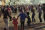 Shrove Tuesday Skipping Scarborough Yorkshire UK. 1970s UK