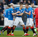 Dean Shiels takes the acclaim after scoring
