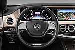 Car pictures of steering wheel view of a 2017 Mercedes Benz S-Class Executive-Line 4 Door Sedan Steering Wheel