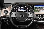 Car pictures of steering wheel view of a 2017 Mercedes Benz S-Class Executive-Line 4 Door Sedan Steering Wheel