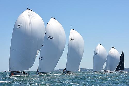 The impressive sight of the Grand Prix FAST40+ fleet Photo: Rick Tomlinson