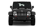 Car photography straight front view of a 2017 JEEP Wrangler-Unlimited Rubicon-Hard-Rock 5 Door SUV Front View