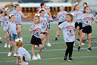 Children that participated in a Cheerleader Clinic perform with the Fort Smith Southside cheerleaders prior to Southside's game against Fayetteville on Friday, Oct. 8, 2021 in Fort Smith. (Special to NWA Democrat Gazette/Brian Sanderford)