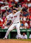 Jun 22, 2019; Boston, MA, USA; Boston Red Sox pitcher Josh Smith on the mound in the 9th inning against the Toronto Blue Jays at Fenway Park. Mandatory Credit: Ed Wolfstein-USA TODAY Sports
