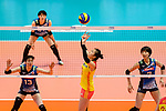 Xia Ding of China (C) passes the ball during the match between China and Japan on May 30, 2018 in Hong Kong, Hong Kong. (Photo by Power Sport Images/Getty Images)