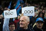 © Joel Goodman - 07973 332324 . 08/12/2015 . Manchester , UK . Manchester City fans watching Manchester City vs Borussia Monchengladbach in the UEFA Champions League at the Etihad Stadium . Photo credit : Joel Goodman