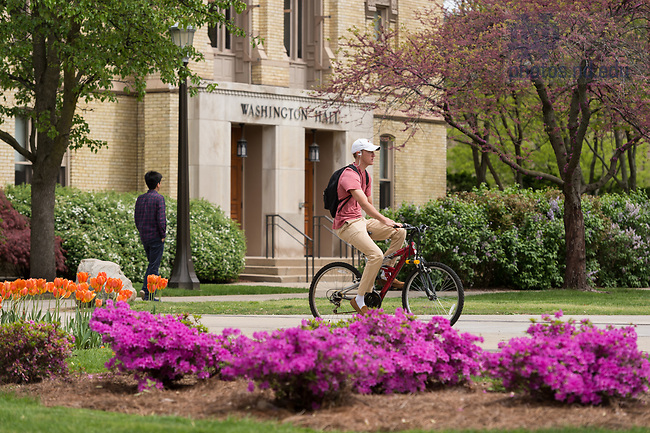 May 3, 2017; Washington Hall, 2017 spring. (Photo by Barbara Johnston/University of Notre Dame)