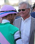 HALLANDALE BEACH, FL - JANUARY 28:  Trainer Bill Mott with jockey Jose L Ortiz after winning the Prevoyante G3 Stakes on Pegasus World Cup Invitational Day at Gulfstream Park on January 28, 2017 in Hallandale Beach, Florida. (Photo by Liz Lamont/Eclipse Sportswire/Getty Images)