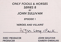 BNPS.co.uk (01202 558833)<br /> Pic: EastBristolAuctions/BNPS<br /> <br /> A script for the Only Fools and Horses episode 'Heroes and Villains' that was owned by Roger Lloyd-Pack has emerged for sale for £3,000.<br /> <br /> Lloyd-Pack, who died in 2014, famously played the dim-witted road sweeper Trigger in the hit sitcom between 1981 and 2003.<br /> <br /> Despite initially being a minor character he quickly became a firm fans favourite with his appearance in the one hour special particularly memorable.