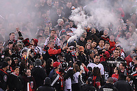 D.C. United fans. Sporting Kansas City defeated D.C. United  1-0 at RFK Stadium, Saturday March 10, 2012.