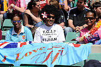 A Fijian fan looks on during the iRB Marriott London Sevens at Twickenham on Sunday 13th May 2012 (Photo by Rob Munro)