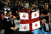 A Georgia fan enjoys the moment during Match 23 of the Rugby World Cup 2015 between New Zealand and Georgia - 02/10/2015 - Millennium Stadium, Cardiff<br /> Mandatory Credit: Rob Munro/Stewart Communications