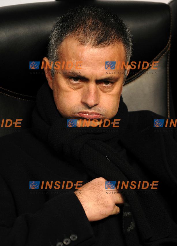 "Jose Mourinho (Inter) coach<br /> L'allenatore dell'Inter Jose Mourinho<br /> Milano 26/11/2008 Stadio ""Giuseppe Meazza"" <br /> Champions League 2008/2009<br /> Inter Panathinaikos (0-1)<br /> Foto Insidefoto"