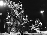 Kiss 1976 Gene Simmons, Paul Stanley and Ace Frehley in London